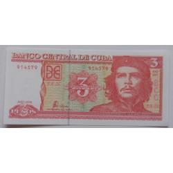 Cuba - 3 Pesos - 2004 - Nova