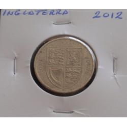 Inglaterra - 1 Pound - 2012