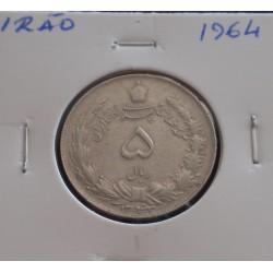 Irão - 5 Rials - 1964