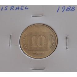 Israel - 10 Agorot - 1988