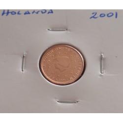 Holanda - 1 Centimo - 2001
