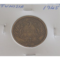 Tunísia - 2 Francs - 1945