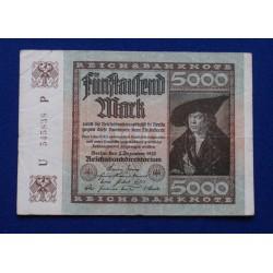 Alemanha - 5000 Mark -...