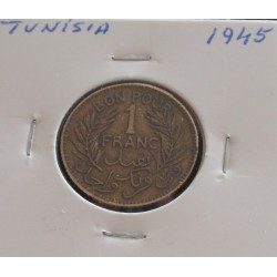 Tunísia - 1 Franc - 1945