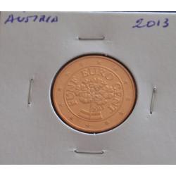 Áustria - 5 Centimos - 2013