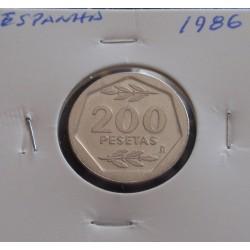 Espanha - 200 Pesetas - 1986