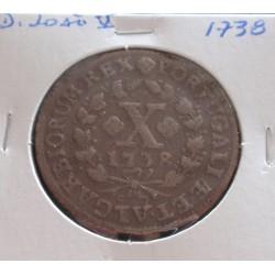 D. João V - X Réis - 1738 -...