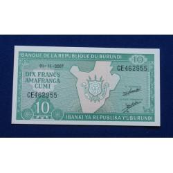 Burundi - 10 Francs - 2007...