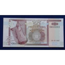 Burundi - 50 Francs - 2005...