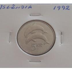 Islândia - 5 Kronur - 1992
