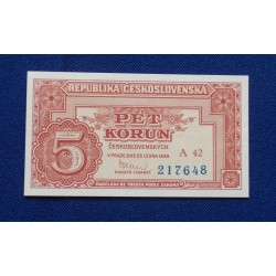 Checoslováquia - 5 Korun -...