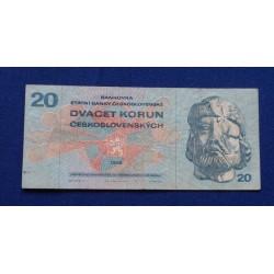 Checoslováquia - 20 Korun -...