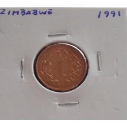 Zimbabwe - 1 Cent - 1991