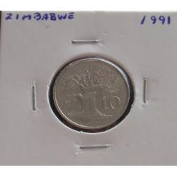 Zimbabwe - 10 Cents - 1991