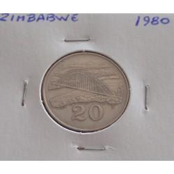 Zimbabwe - 20 Cents - 1980
