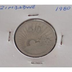 Zimbabwe - 50 Cents - 1980