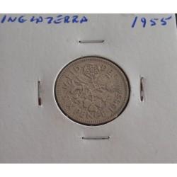 Inglaterra - 6 Pence - 1955