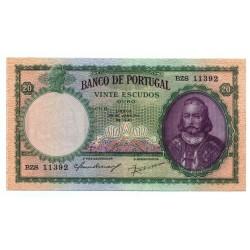 Portugal - Nota - 20 Escudos - 28/1/1941 -  Ch. 6 - D. António Luiz de Menezes