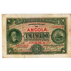 Angola, PT, 1 Escudo, 1/1/1921, Chamiço