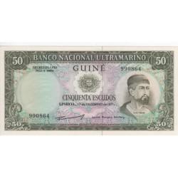 Guiné, PT, BNU, 50 Escudos, 17/12/1971, Nuno Tristão