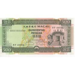 Macau, PT, 500 Patacas, 20/11/1999, Templo de Á Má