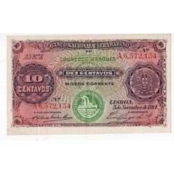 Moçambique, Lourenço Marques, 10 Centavos, 5/11/1914