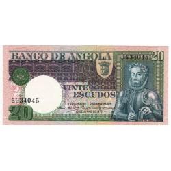 Angola, PT, 20 Escudos, 10/6/1973, Luiz de Camões
